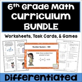 6th Grade Math Curriculum Bundle - Worksheets, Task Cards & Games