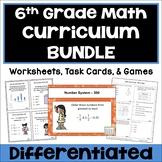 6th Grade Math Curriculum BUNDLE - Worksheets, Task Cards & Games