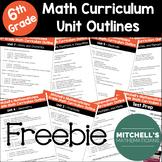 6th Grade Math Curriculum Outline Freebie