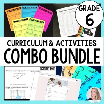 6th Grade Math Curriculum and Activities