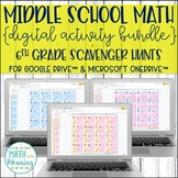 6th Grade Math DIGITAL Scavenger Hunt Activity Bundle for