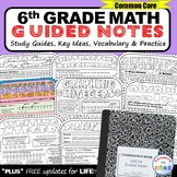6th Grade Math Guided NOTES Bundle - Interactive Math Notebooks