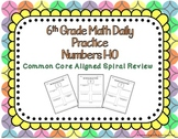 6th Grade Math Daily Practice Numbers 1-10