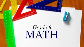 6th Grade Math - Daily Work