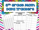 6th Grade Math Data Trackers