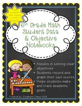 6th Grade Math Data and Objective Notebook