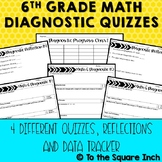 6th Grade Math Diagnostic Quizzes