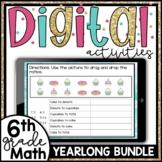 6th Grade Math Digital Bundle for Google Classroom