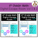 6th Grade Math Digital Escape Room Bundle (Volumes 1 and 2)