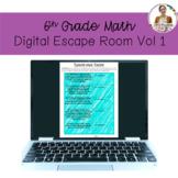 6th Grade Math Digital Escape Room Volume 1