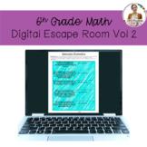6th Grade Math Digital Escape Room Volume 2
