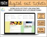 6th Grade Math *Digital* Exit Tickets (Google Forms)