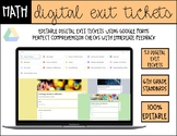 6th Grade Math *Digital* Exit Tickets (Google Forms) - Dis