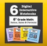 6th Grade Math - Digital Interactive Notebook BUNDLE! (Rat