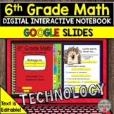 6th Grade Math Digital Interactive Notebook Distance Learn