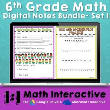 6th Grade Math Digital Notes- Set 1