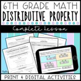 Distributive Property Complete Lesson (Distance Learning)