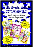 6th Grade Math EXTRAS BUNDLE - Choice Boards, Vocab Diagrams, Bingo