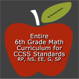 6th Grade Math:  Entire CCSS Curriculum