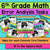 6th Grade Math Error Analysis Bundle