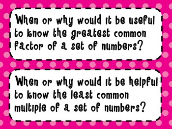 6th Grade Math Essential Questions *Common Core Aligned*