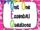 6th Grade Math Essential Questions Giraffe Print *Common Core Aligned*