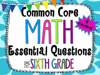6th Grade Math Essential Questions Giraffe Print *Common C