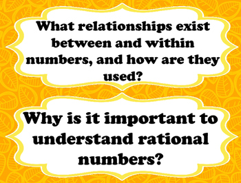 6th Grade Math Essential Questions - TEKS
