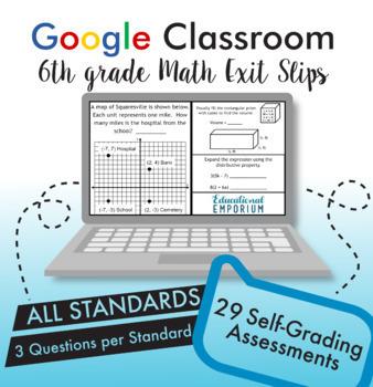 6th Grade Math Exit Slips Digital + Paper MEGA Bundle: Google + PDF Exit Tickets