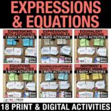 6th Grade Math Expressions & Equations Print + Digital Act