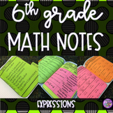 6th Grade Math - Expressions Notes