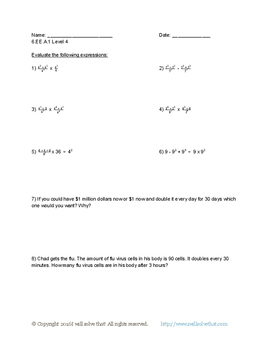 6th Grade Math: Expressions and Equations 6.EE.A.1