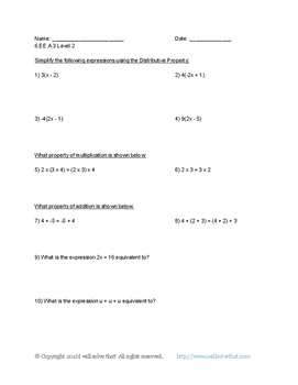 6th Grade Math: Expressions and Equations 6.EE.A.3