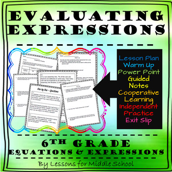 6th Grade Math – Expressions and Equations – Evaluating Algebraic Expressions