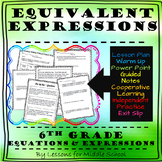 6th Grade Math – Expressions and Equations – Generating Algebraic Expressions