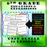 6th Grade Math - Expressions and Equations Unit Bundle