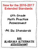 6th Grade Math Extended Standards Practice Test Alabama Alternate Assessment