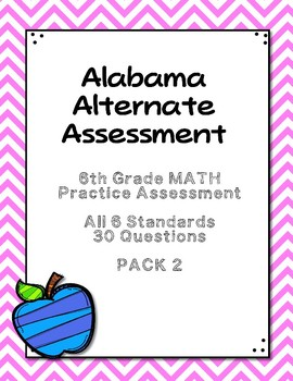 6th Grade Math Extended Standards Practice Test PACK 2 AAA
