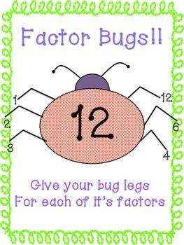 6th Grade Math Factor Bugs and GCF