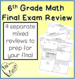 6th Grade Math Final Exam Review