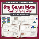 6th Grade Math Final Test / End of Year Review / STAAR Practice/ Benchmark.