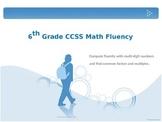 6th Grade Math Fluency Daily Practice (6.NS.2, 6.NS.3, 6.NS.4)