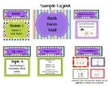 6th Grade Math Focus Wall & 112 Vocabulary Word Wall Card Bundle