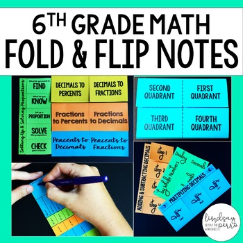 Middle School Math Foldable Style Notes Bundle for 6th Grade