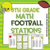 6th Grade Math Football Stations