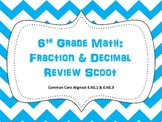 6th Grade Math: Fraction & Decimal Scoot (Common Core)