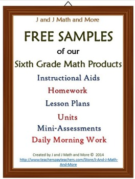 6th Grade Math: Free Products - BUNDLED