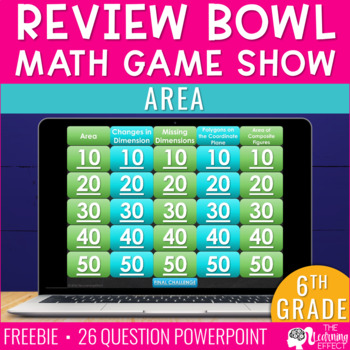 6th Grade Math Game - Area