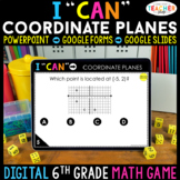 6th Grade Math Game DIGITAL | Coordinate Planes | Distance