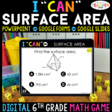 6th Grade Math Game DIGITAL   Surface Area   Distance Learning